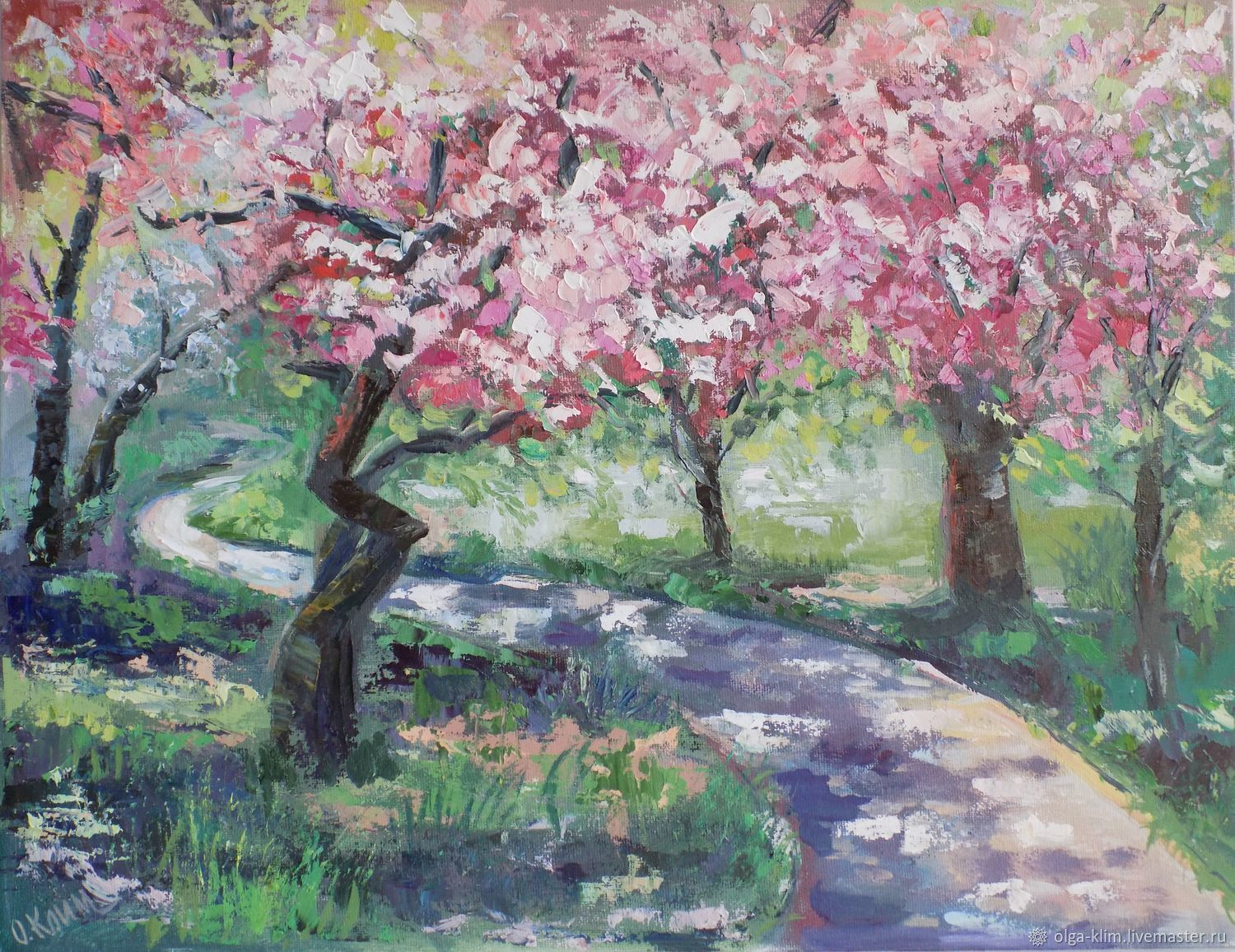 Painting Blooming Garden Landscape with blooming trees Spring, Pictures, Ekaterinburg,  Фото №1
