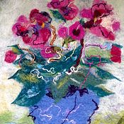 Картины и панно ручной работы. Ярмарка Мастеров - ручная работа Валяная картина Цикламены. Handmade.