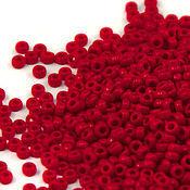 Бисер ручной работы. Ярмарка Мастеров - ручная работа Круглый 15/0 Miyuki 408 Opaque Red Японский бисер Миюки. Handmade.