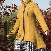 Одежда ручной работы. Ярмарка Мастеров - ручная работа Трикотажное пальто на молнии. Handmade.