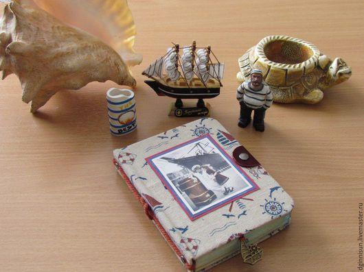 Блокноты ручной работы. Ярмарка Мастеров - ручная работа. Купить блокнот Морской бриз. Handmade. Скрапблокнот, блокнот для записей