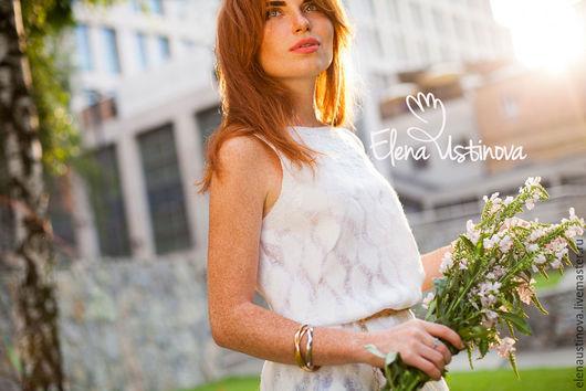 """Блузки ручной работы. Ярмарка Мастеров - ручная работа. Купить Валяная туника """"Белоснежность"""". Handmade. Белый, блузка нарядная"""