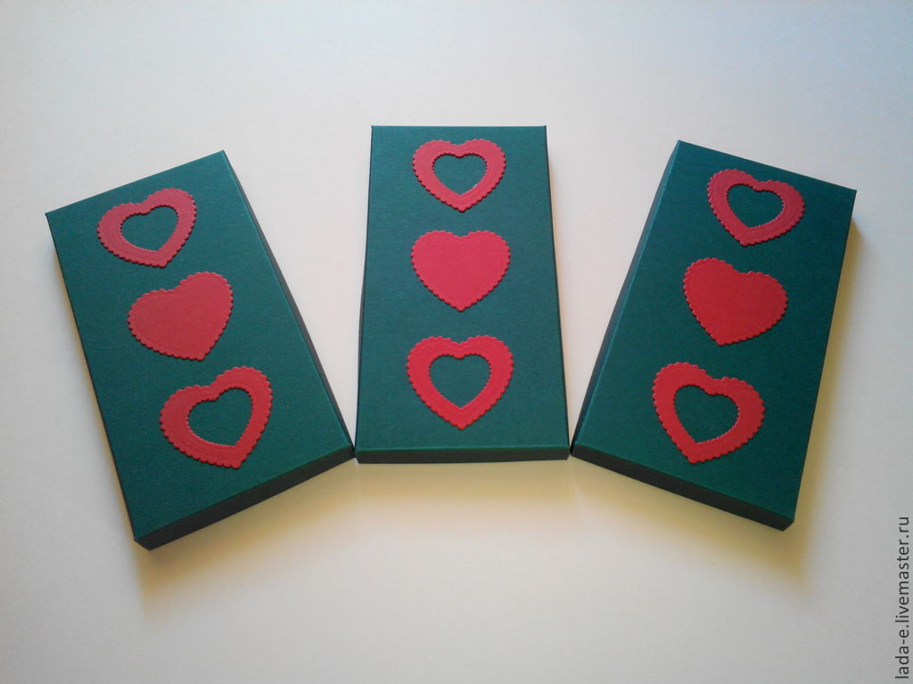 Box with hearts, Packing box, Moscow,  Фото №1