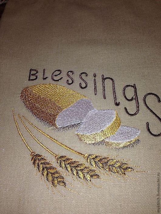 """Кухня ручной работы. Ярмарка Мастеров - ручная работа. Купить Мешочек для белого хлеба """"Благословения с хлебом"""". Handmade. Мешочек"""