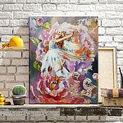 Картины и панно handmade. Livemaster - original item Dance of the flower - painting on canvas. Handmade.