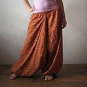 Одежда ручной работы. Ярмарка Мастеров - ручная работа Шаровары Оранжевое настроение. Handmade.
