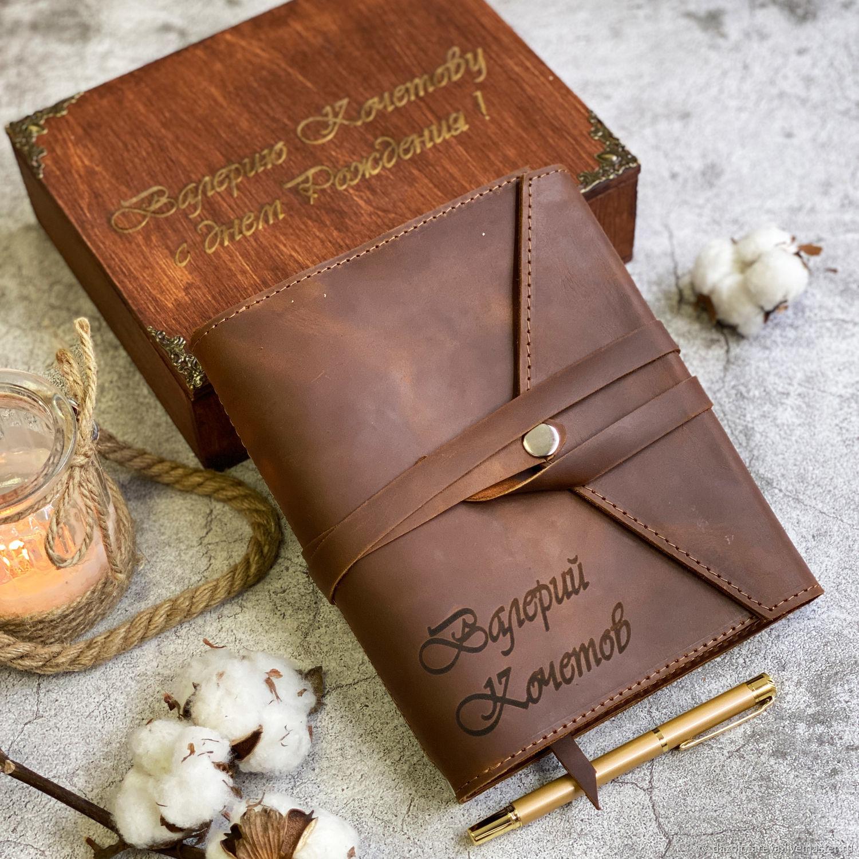 Кожаный именной  блокнот-органайзер на кольцах модель Модерн, Блокноты, Москва,  Фото №1