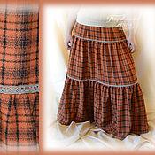 Одежда handmade. Livemaster - original item Long skirt,tiered