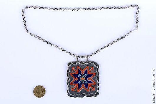 Кулоны, подвески ручной работы. Ярмарка Мастеров - ручная работа. Купить Кулон из серебра с эмалью - армянские мотивы 3. Handmade.