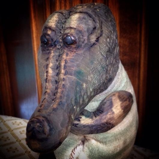 Игрушки животные, ручной работы. Ярмарка Мастеров - ручная работа. Купить Крокодил Сигизмунд маленький/ дерево/ ручная работа. Handmade.