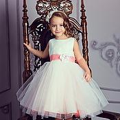 Работы для детей, ручной работы. Ярмарка Мастеров - ручная работа Пион нарядное платье для девочки. Handmade.