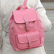 """Сумки и аксессуары ручной работы. Ярмарка Мастеров - ручная работа Розовый кожаный рюкзак """"Рейна"""" (распродажа). Handmade."""