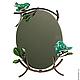 Зеркало настольное Бирюзовые Птички
