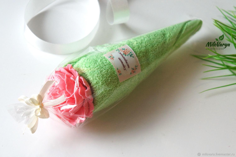 набор мыло пион и полотенце, Подарки на 8 марта, Тула,  Фото №1