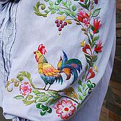 Одежда handmade. Livemaster - original item Exclusive embroidered blouse