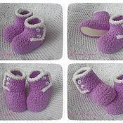 Работы для детей, ручной работы. Ярмарка Мастеров - ручная работа Плюшевые пинетки для малыша. Handmade.