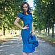 """Платья ручной работы. Заказать Валяный комплект  """"Bleu Ciel"""". Stela Style. Ярмарка Мастеров. Мода, шелк натуральный"""