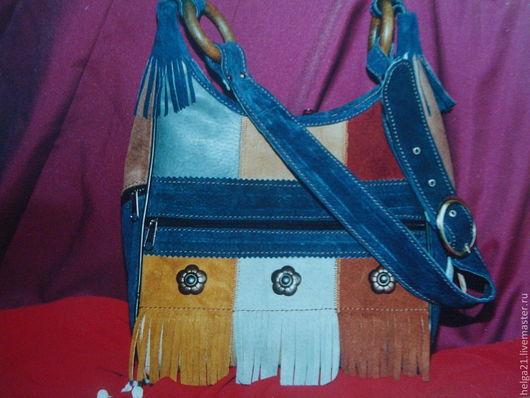 Женские сумки ручной работы. Ярмарка Мастеров - ручная работа. Купить сумка кожаная женская пейчворк. Handmade. В полоску