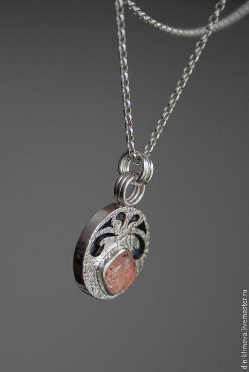 """Кулоны, подвески ручной работы. Ярмарка Мастеров - ручная работа. Купить кулон """"Teej"""" , серебро, солнечный камень. Handmade. Оранжевый"""
