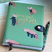 Канцелярские товары handmade. Livemaster - original item Diary Raccoons. Handmade.