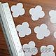 Ткань для цветов ручной работы. Гортензия, вырубка (3,5 см), хлопок 50 шт. Арт. ВГ17900. Кокоро. Интернет-магазин Ярмарка Мастеров.