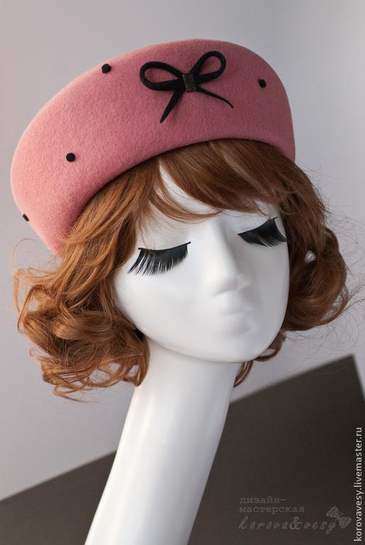 """Шляпы ручной работы. Ярмарка Мастеров - ручная работа. Купить """"Ягодное утро"""". Handmade. Коралловый, утро в городе, жизнерадостный"""