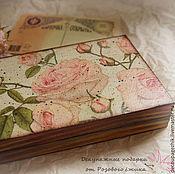 Для дома и интерьера ручной работы. Ярмарка Мастеров - ручная работа Шкатулка для денег (купюрница) Розовые мечты. Handmade.