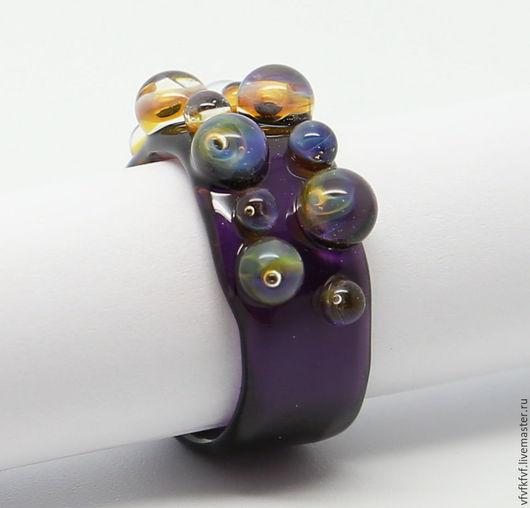 """Кольца ручной работы. Ярмарка Мастеров - ручная работа. Купить Кольцо лэмпворк """"Ловушки"""" размер 17,5. Handmade."""