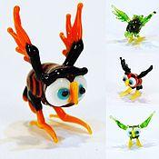 Куклы и игрушки handmade. Livemaster - original item Collectible micro figurine made of colored glass owls Suffolk County. Handmade.