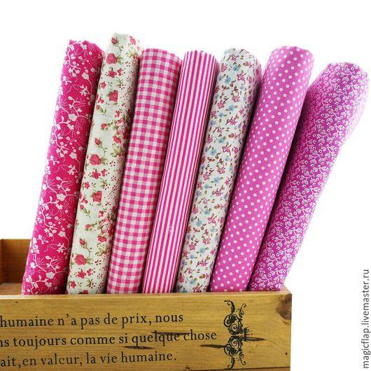 Шитье ручной работы. Ярмарка Мастеров - ручная работа. Купить Набор тканей хлопок Малиновый. Для пэчворка, текстиля, Тильды, декора. Handmade.