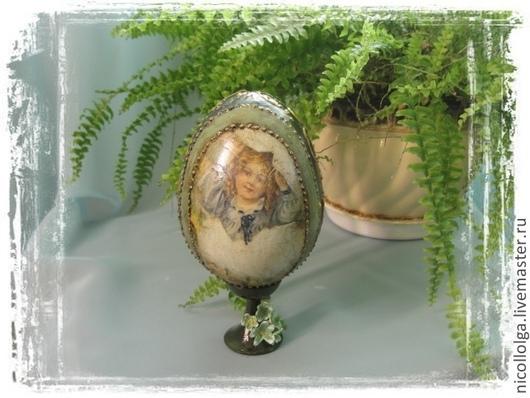 Яйца ручной работы. Ярмарка Мастеров - ручная работа. Купить Яйцо пасхальное Большое 11см. Handmade. Болотный, пасхальные подарки