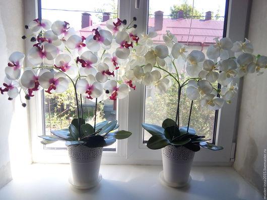 Топиарии ручной работы. Ярмарка Мастеров - ручная работа. Купить Имитация орхидей.. Handmade. Цветочная композиция, интерьерная композиция