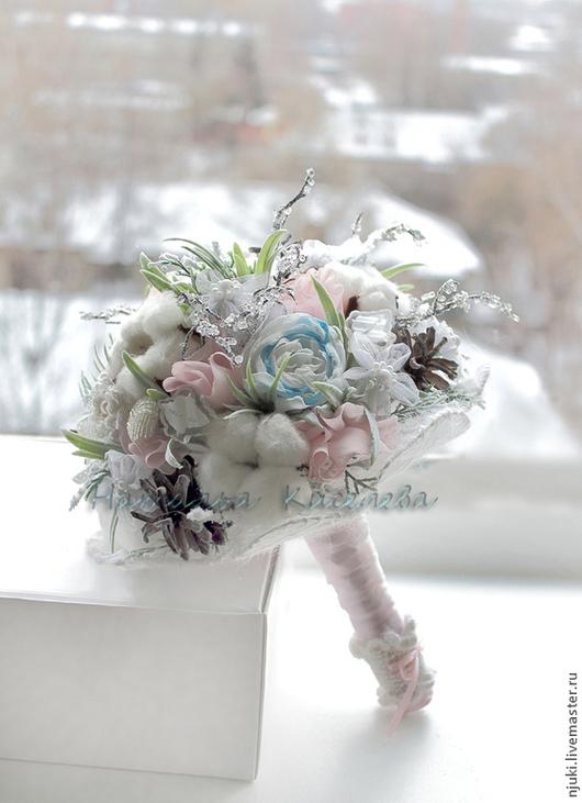 Свадебные цветы ручной работы. Ярмарка Мастеров - ручная работа. Купить Букет зимний свадебный Зимняя сказка. Handmade. зима
