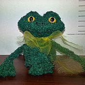 Куклы и игрушки ручной работы. Ярмарка Мастеров - ручная работа Лягушонок вязанный. Handmade.