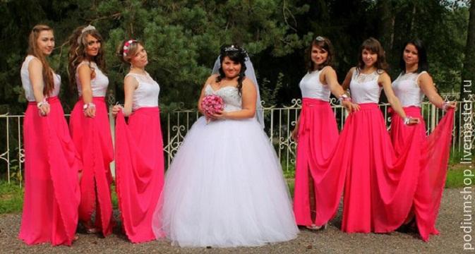 Платье подружек невесты осень