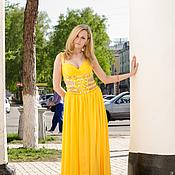 Одежда ручной работы. Ярмарка Мастеров - ручная работа Жёлтое платье. Handmade.