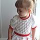 Одежда для девочек, ручной работы. Заказать платье Зимняя роза вязаное детское авторское. Евгения  Черевкова (EvgeniaManKi). Ярмарка Мастеров.