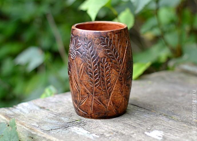 Ваза керамическая ручной работы для полевых цветов