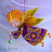 Сувениры и подарки handmade. Livemaster - original item Christmas gifts: Angel glass fusing. Handmade.