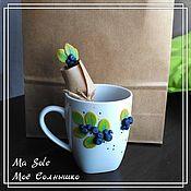 Посуда ручной работы. Ярмарка Мастеров - ручная работа Черничное чаепитие. Handmade.