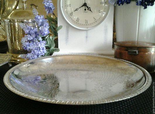 Винтажная посуда. Ярмарка Мастеров - ручная работа. Купить Большое винтажное блюдо, Англия, антиквариат, винтаж. Handmade. Антиквариат винтаж