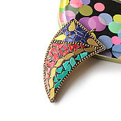 Материалы для творчества handmade. Livemaster - original item Pendant Indonesia large dagger tricolor 67h35mm. Handmade.