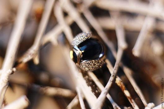 """Кольца ручной работы. Ярмарка Мастеров - ручная работа. Купить Кольцо коктейльное """"Жук"""" с раухтопазом. Handmade. Золотой, кольцо в подарок"""
