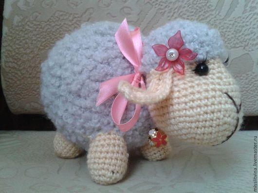 Игрушки животные, ручной работы. Ярмарка Мастеров - ручная работа. Купить вязаная овечка. Handmade. Бежевый, вязание на заказ