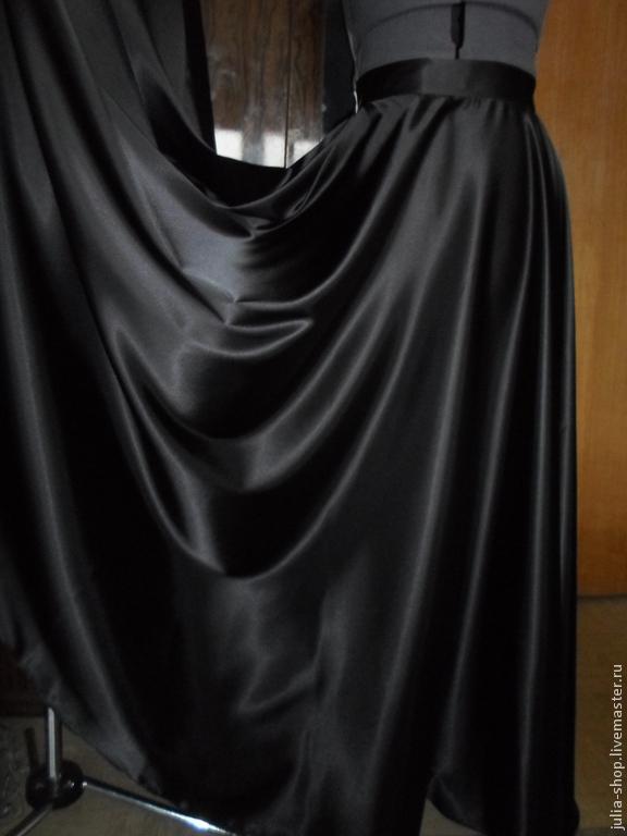Черная юбка солнце доставка