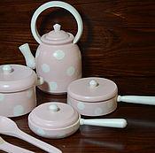 Мебель для кукол ручной работы. Ярмарка Мастеров - ручная работа Набор посуды для кухни № 4. Handmade.