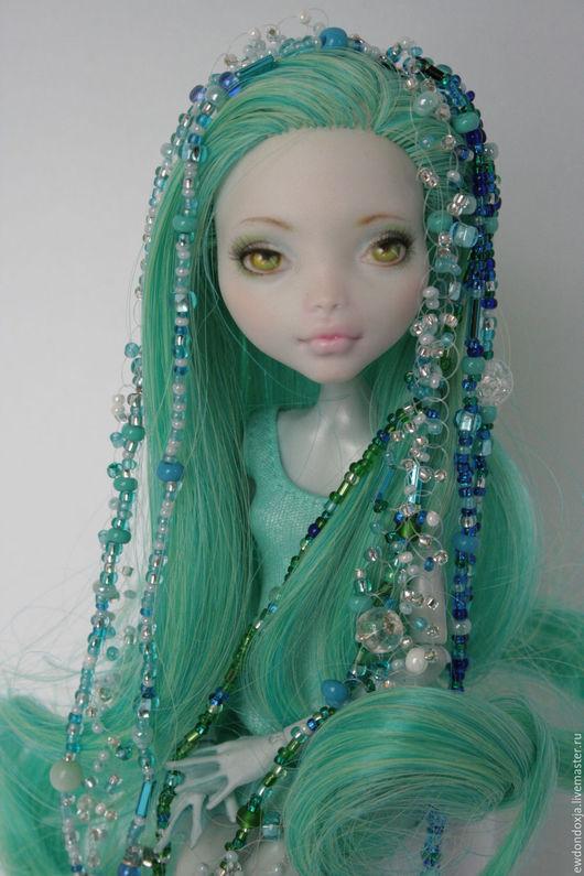 Коллекционные куклы ручной работы. Ярмарка Мастеров - ручная работа. Купить Русалка ооак Лагуны, Monster high. Handmade. Мятный