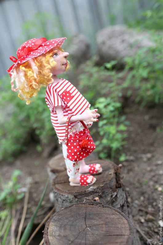 Коллекционные куклы ручной работы. Ярмарка Мастеров - ручная работа. Купить Краски лета. Handmade. Ярко-красный, ручная работа