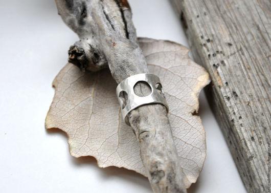 Кольца ручной работы. Ярмарка Мастеров - ручная работа. Купить Серебряное кольцо Лунные фазы. Handmade. Серебро, украшения из серебра