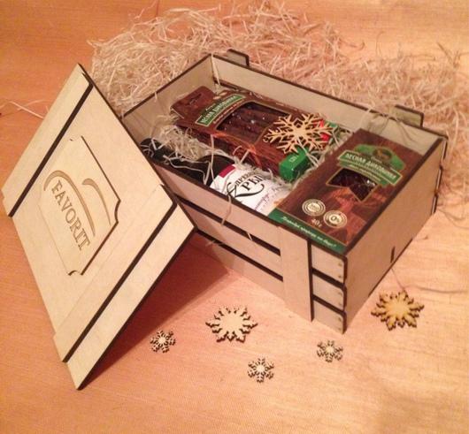 Подарочные наборы ручной работы. Ярмарка Мастеров - ручная работа. Купить Подарочный набор с любым наполнением. Handmade. Ящик с логотипом